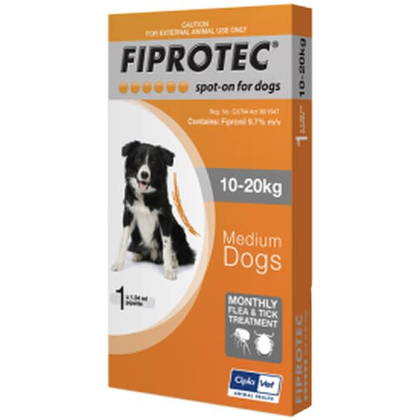 Fiprotec 10 kg - 20 kg Medium Dog