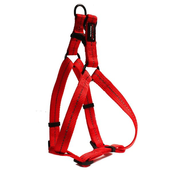 Dog's Life Reflective Supersoft Webbing Step In Harness - Red