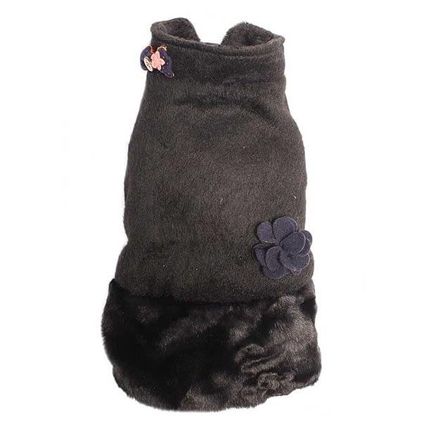 Dog's Life Fluffy Puffle Jacket Black