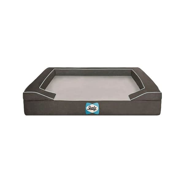 Sealy Lux Orthopedic Dog Bed Cover - Grey