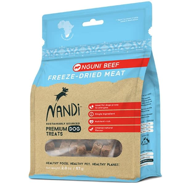 Nandi Freeze-Dried Meat Beef Dog Treats