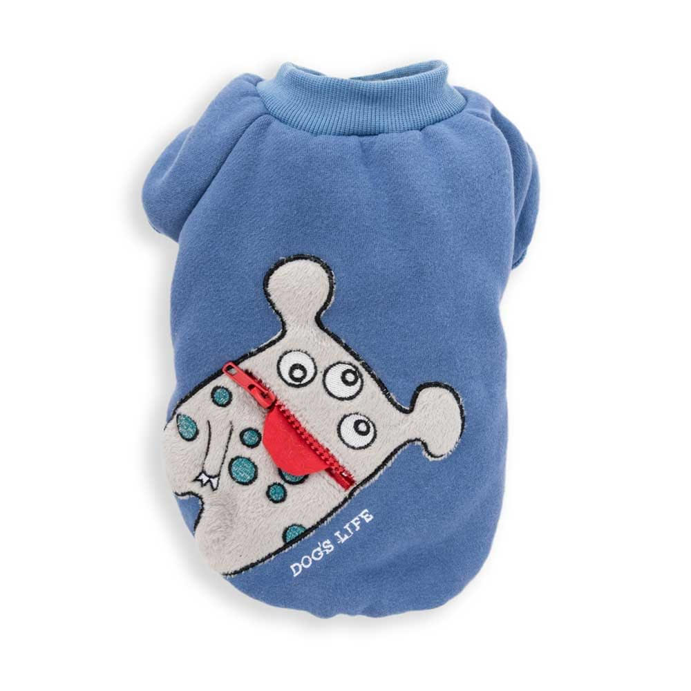 Dog's Life Monster Hoodies with Tongue blue front