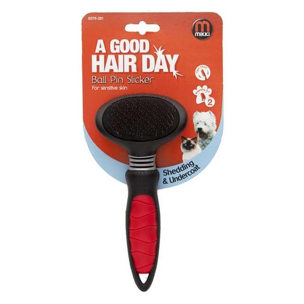 Mikki Ball Pin Slicker for Sensitive Skin