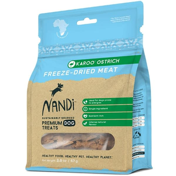 Nandi Freeze-Dried Meat Ostrich Dog Treats