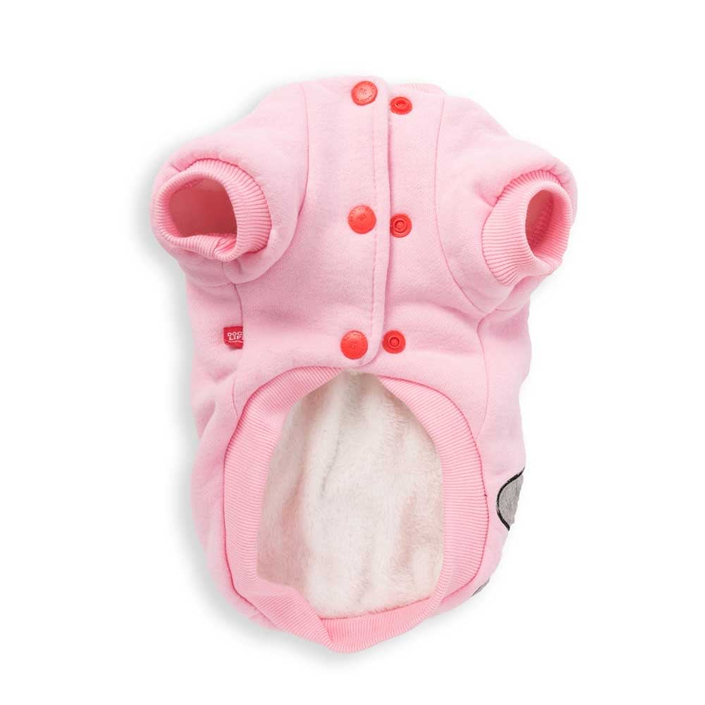 Dog's Life Monster Hoodies with Tongue Pink back