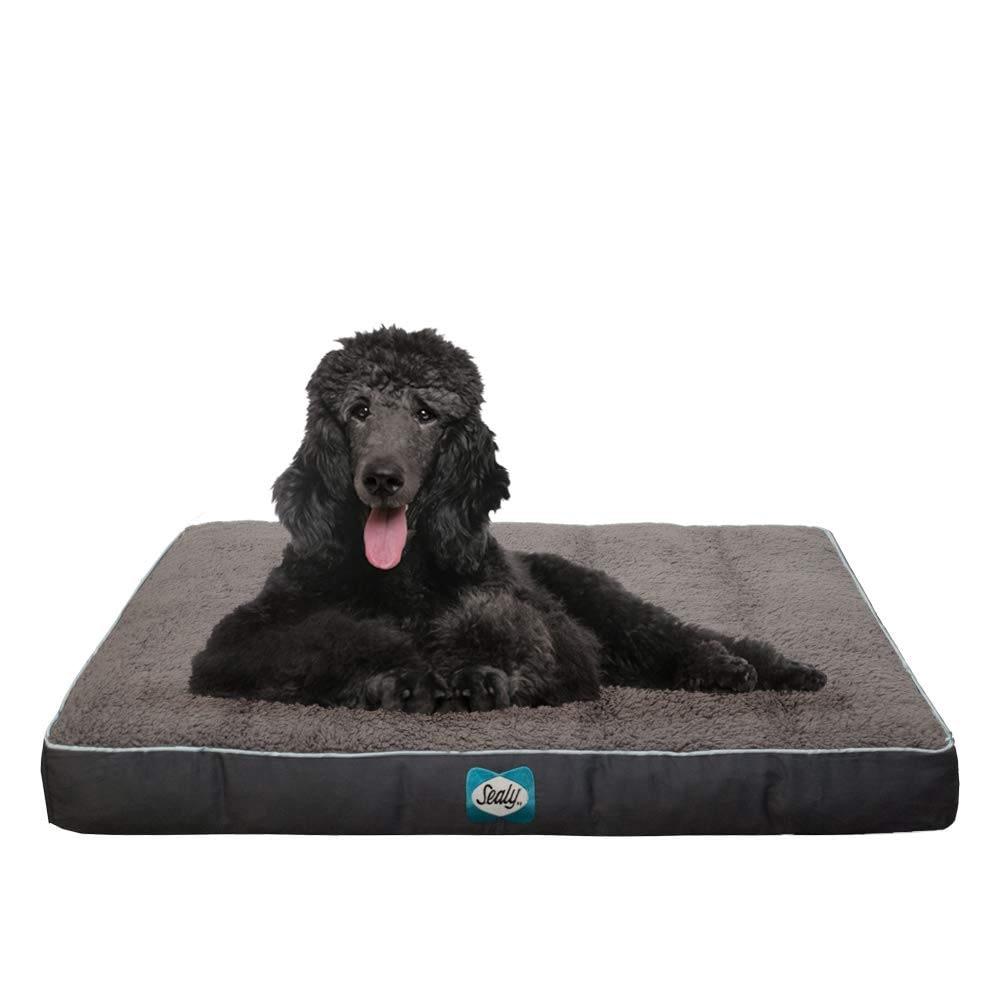 Sealy Cushy Comfy Dog Bed Grey