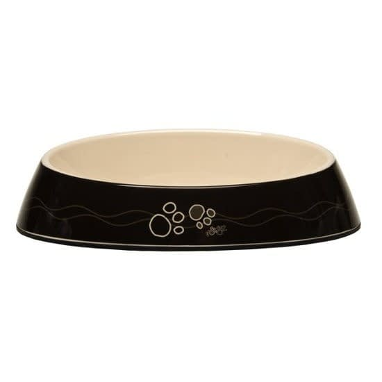 Rogz Fishcake Bowl - Black Paws