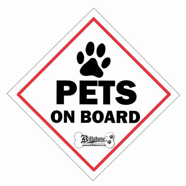 Billabone OnBoard Sign - Pets on Board