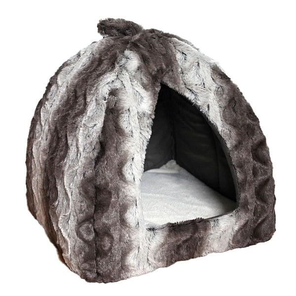 Rosewood Grey Cream Snuggle Plush Pyramid