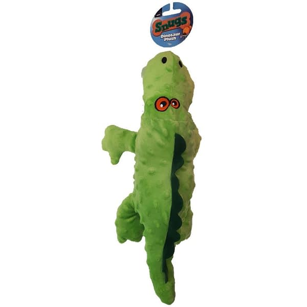 Smart Choice Plush Dinosaur Dog Toy With Squeaker