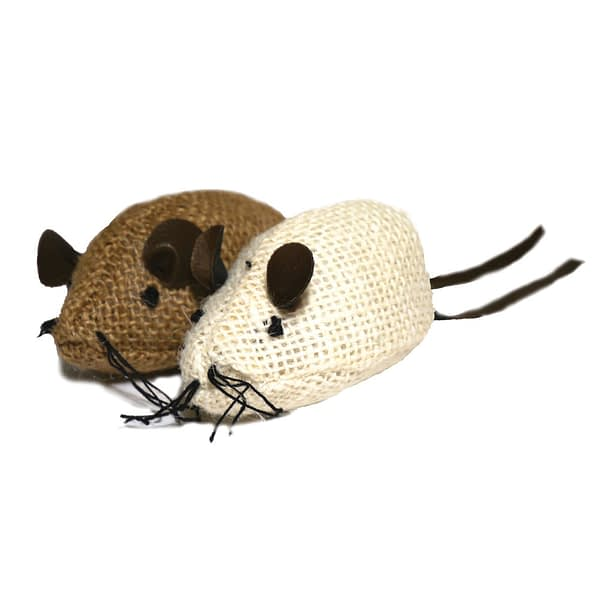 Rosewood Jolly Moggy Natural Wild Catnip Mice 2pc