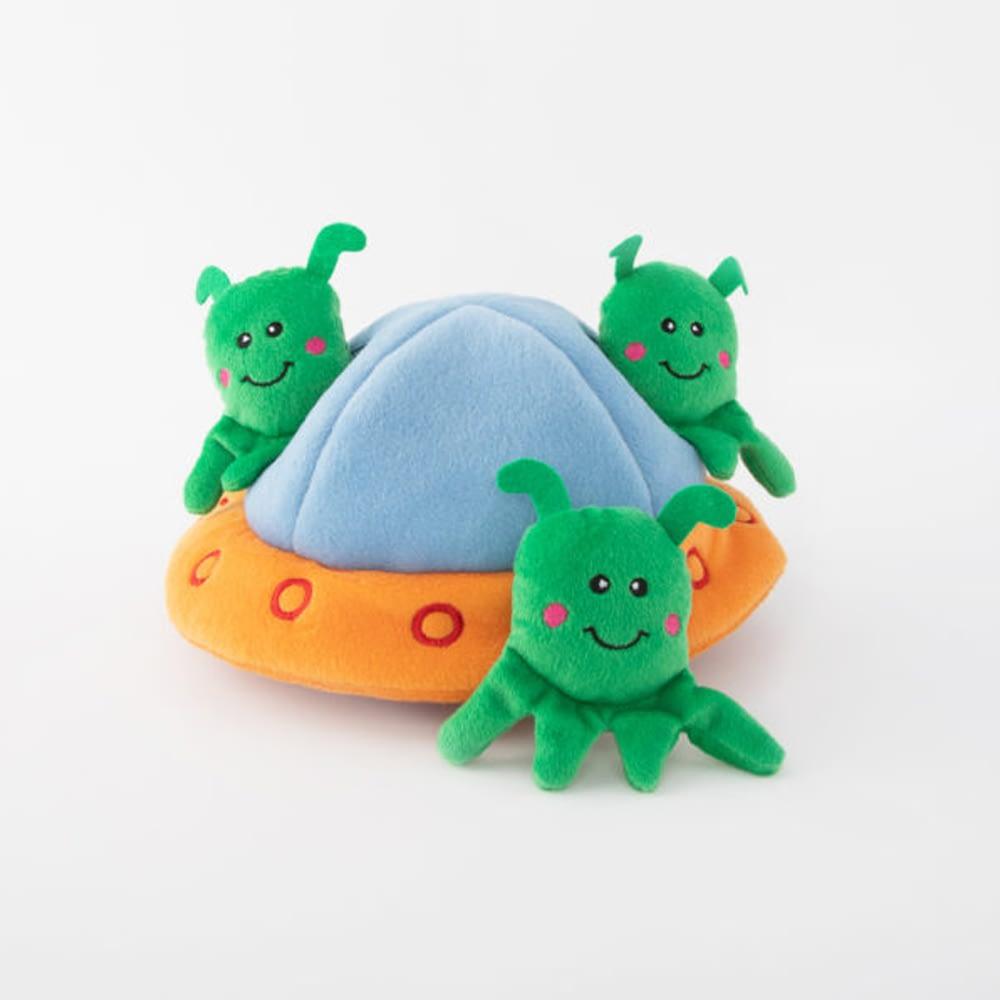 Zippy Paws Aliens in UFO Burrow