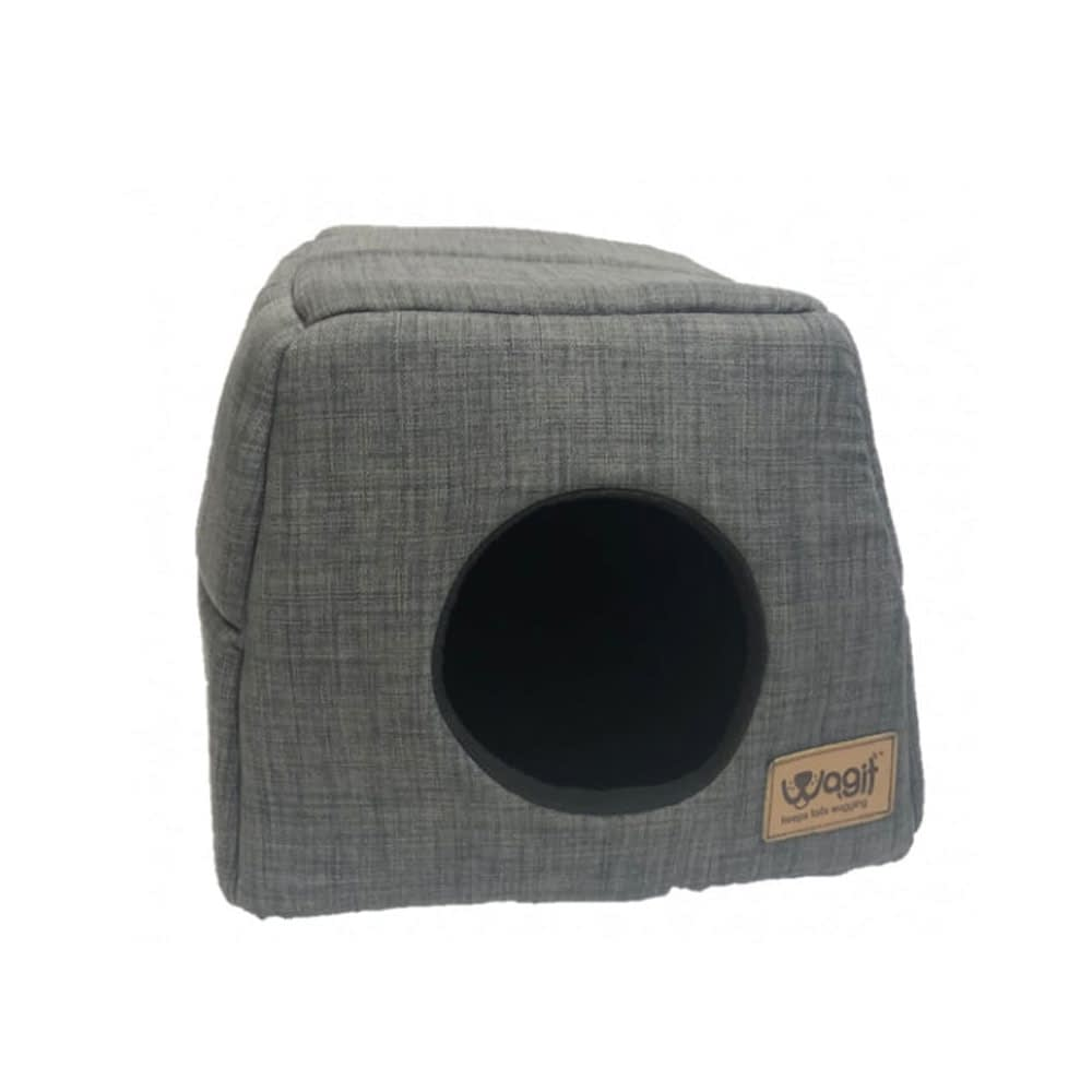 Wagit Grey Upholstery Post Box Dog Bed