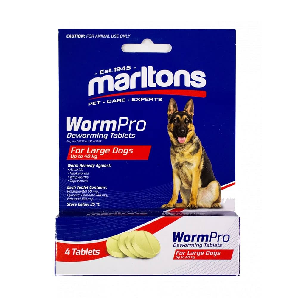 Marltons WormPro for Dogs - Large Dogs