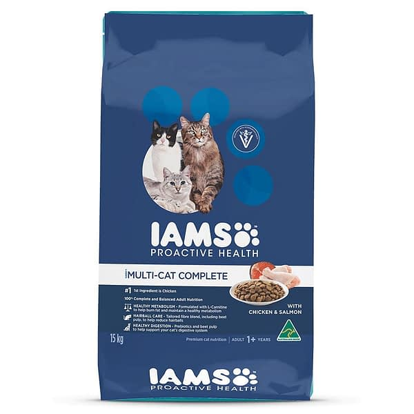 Iams Adult Multi-Cat with Salmon