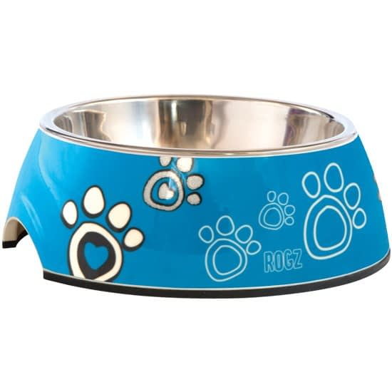 Rogz Bubble Bowl - Turquose Paw