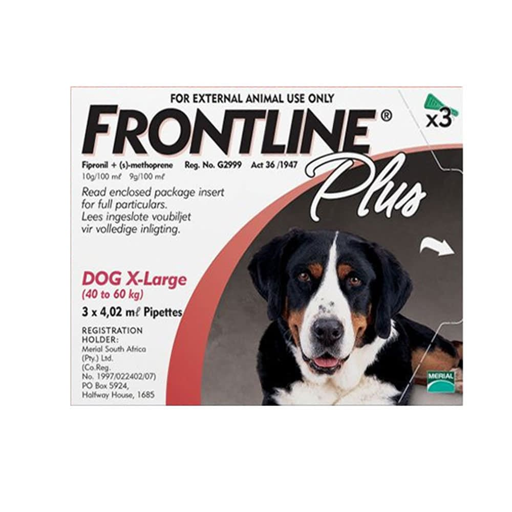 Frontline Plus 40kg - 60 kg Extra Large Dogs Box of 3