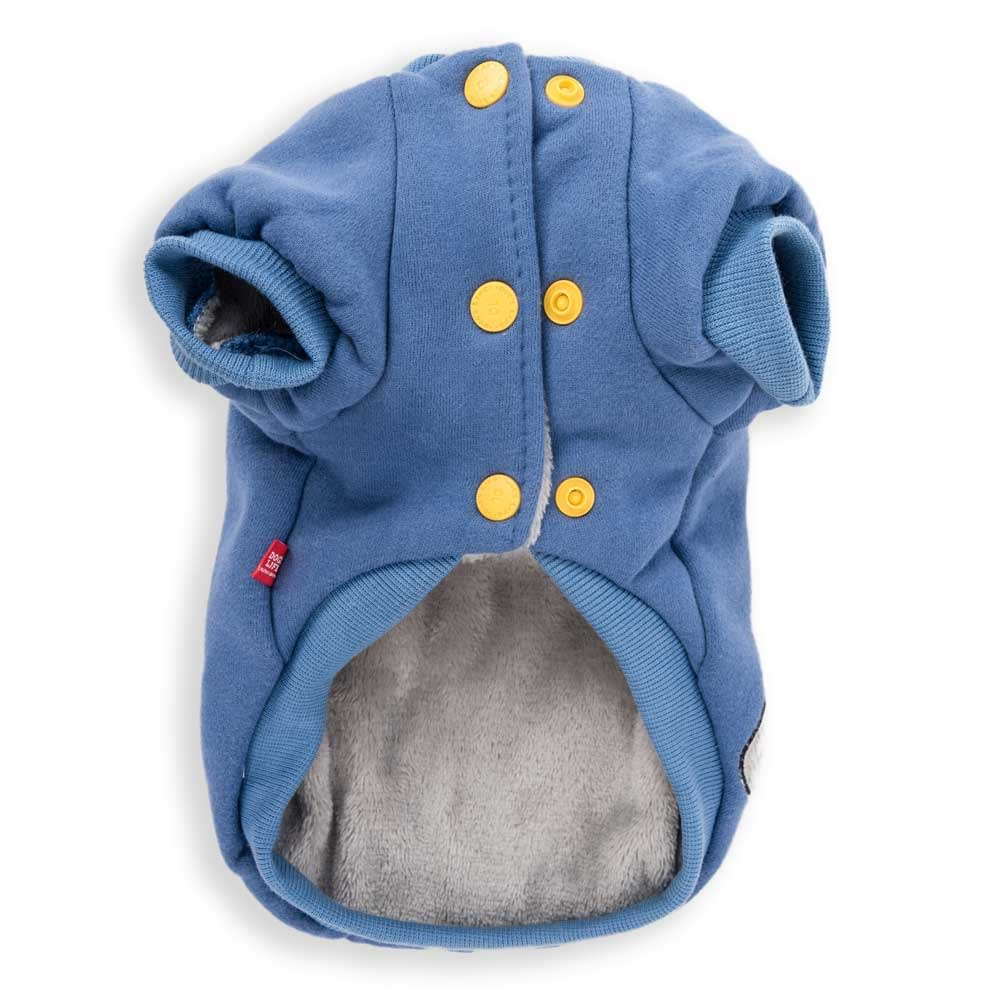 Dog's Life Monster Hoodies with Tongue Blue back