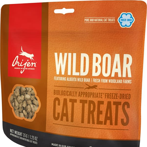 Orijen Wild Roaming Boar formula cat freeze dried treats
