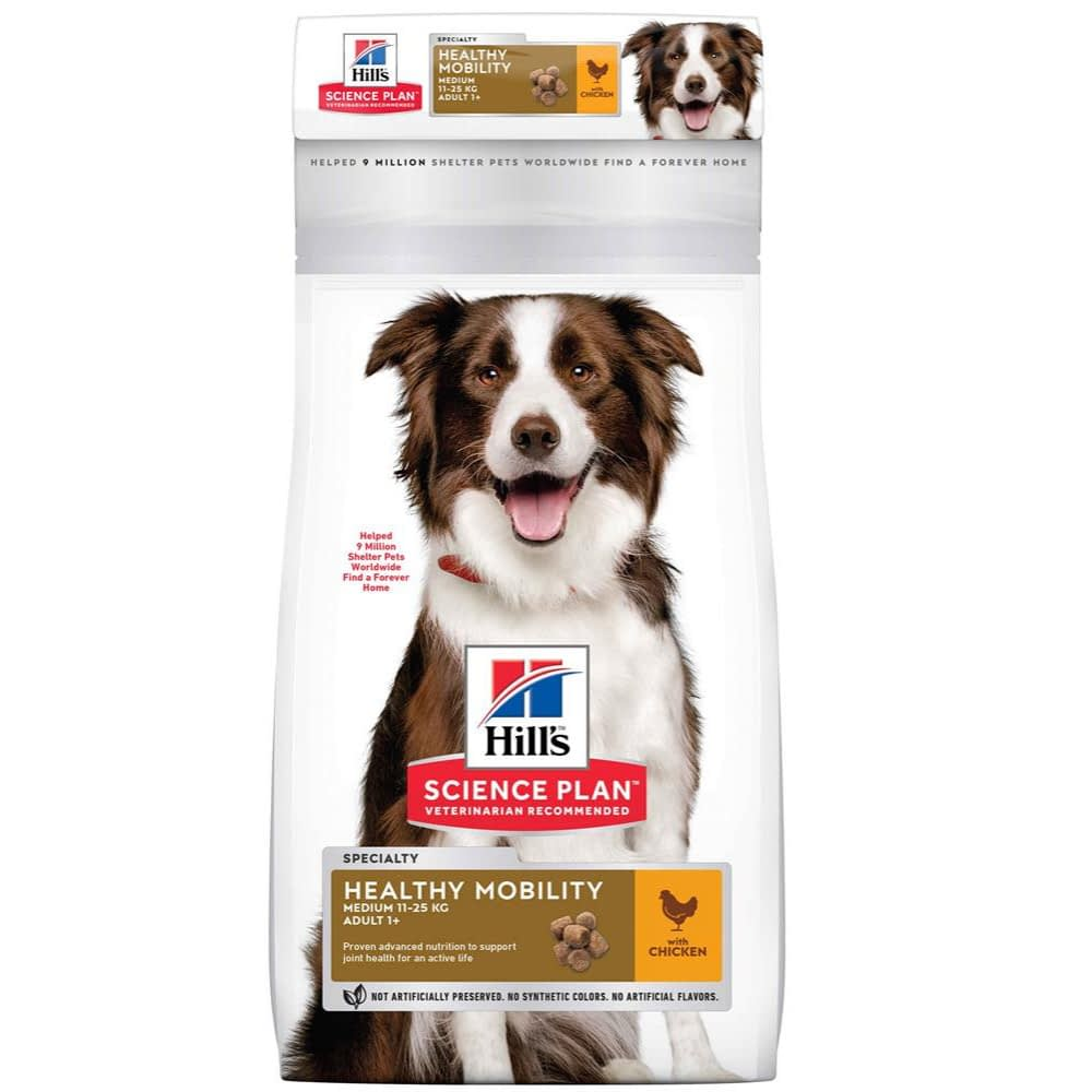 Hill S Science Plan Adult Healthy Mobility Medium Dry Dog Food Chicken Flavour