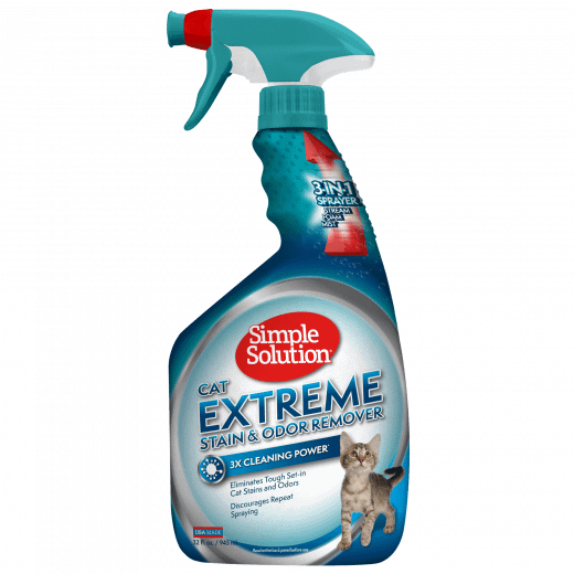 Simple Solution Extreme Stain and Odour remover Cat Trigger Eliminates stains and Odours fast