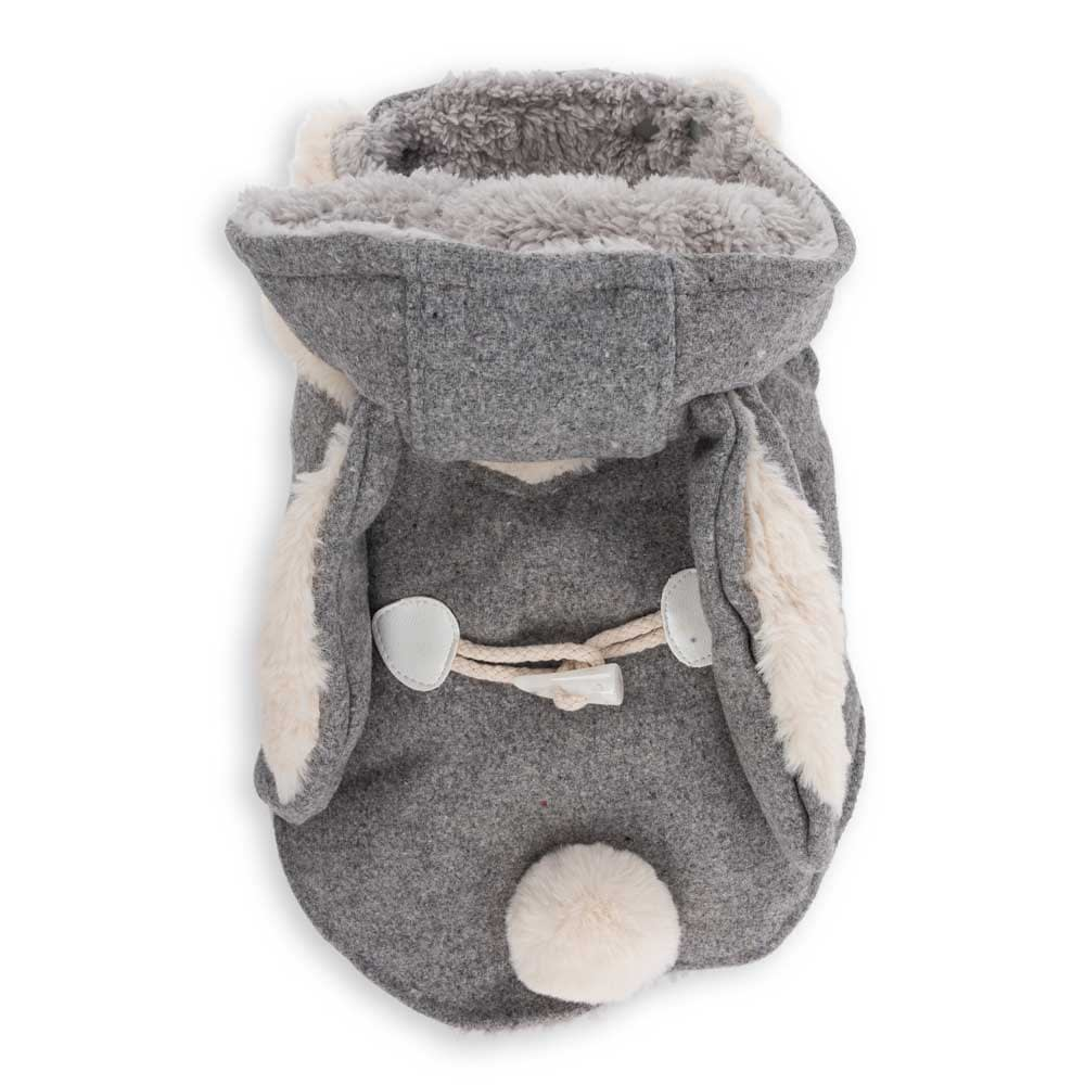 Dog's Life Hare Hooded Coat Grey (front)
