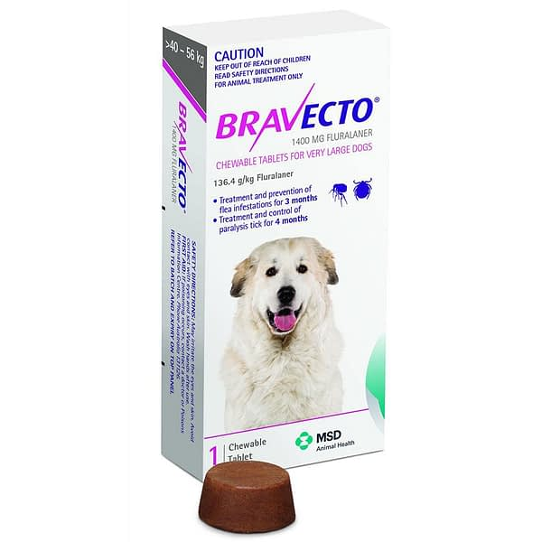 Bravecto X-Large Dog 1400mg (40-56kg)