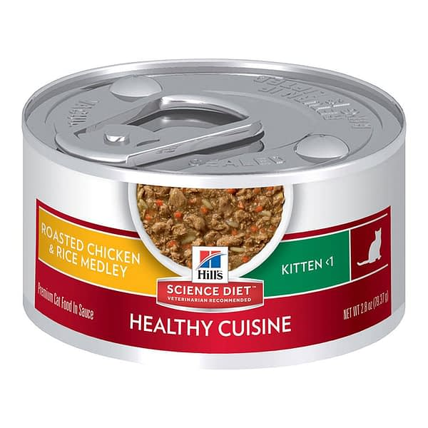 Hill's Feline Kitten Healthy Cuisine Roasted Chicken and Rice Medley