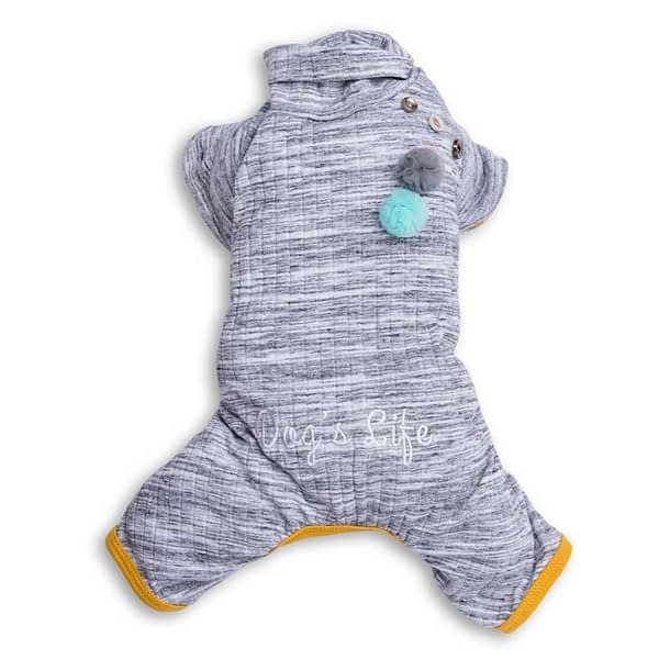Dog's Life Turtleneck Pullover Pajamas (Grey)