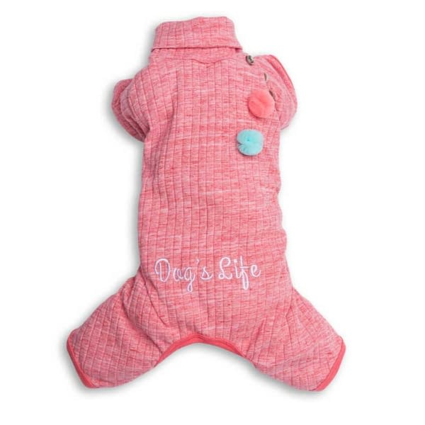 Dog's Life Turtleneck Pullover Pajamas (Pink)
